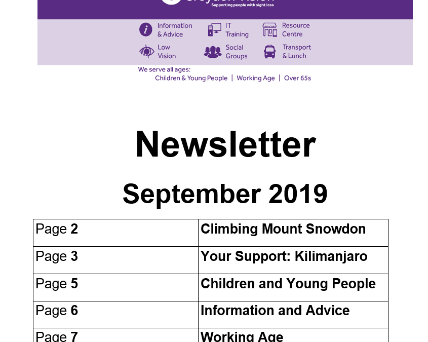 Croydon Vision Newsletter September 2019