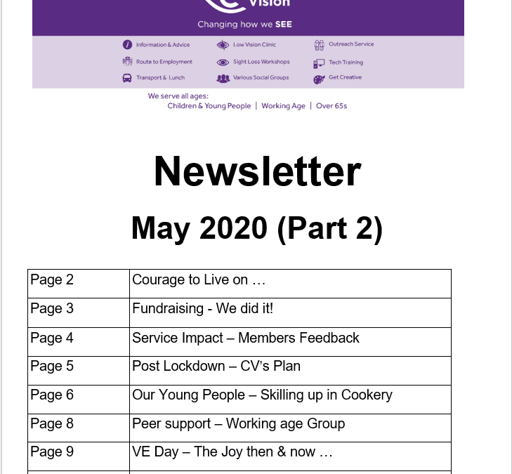 May Part 2 Newletter 2020