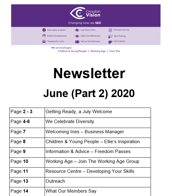 June (Part 2) Newsletter 2020