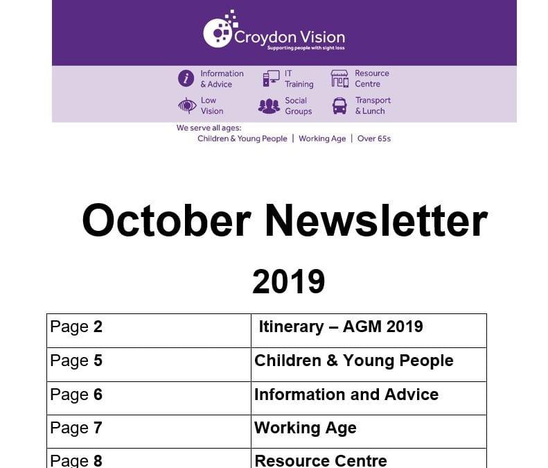Croydon Vision Newsletter October 2019
