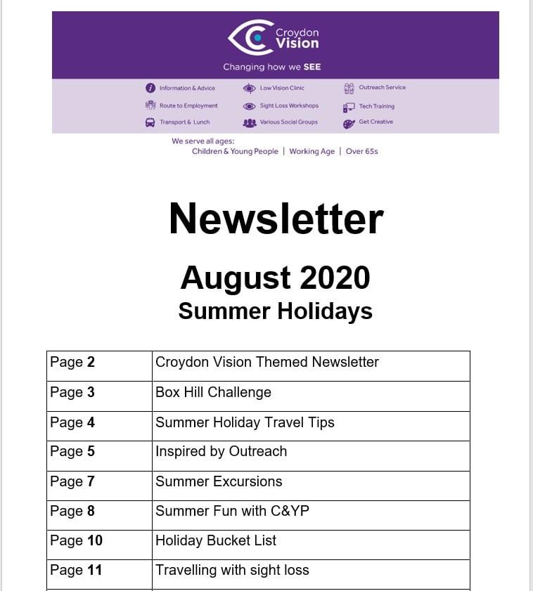 August Newletter 2020