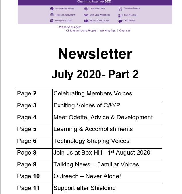 July Newletter (Part 2) 2020