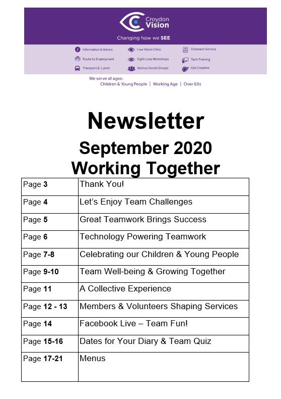 September Newletter 2020