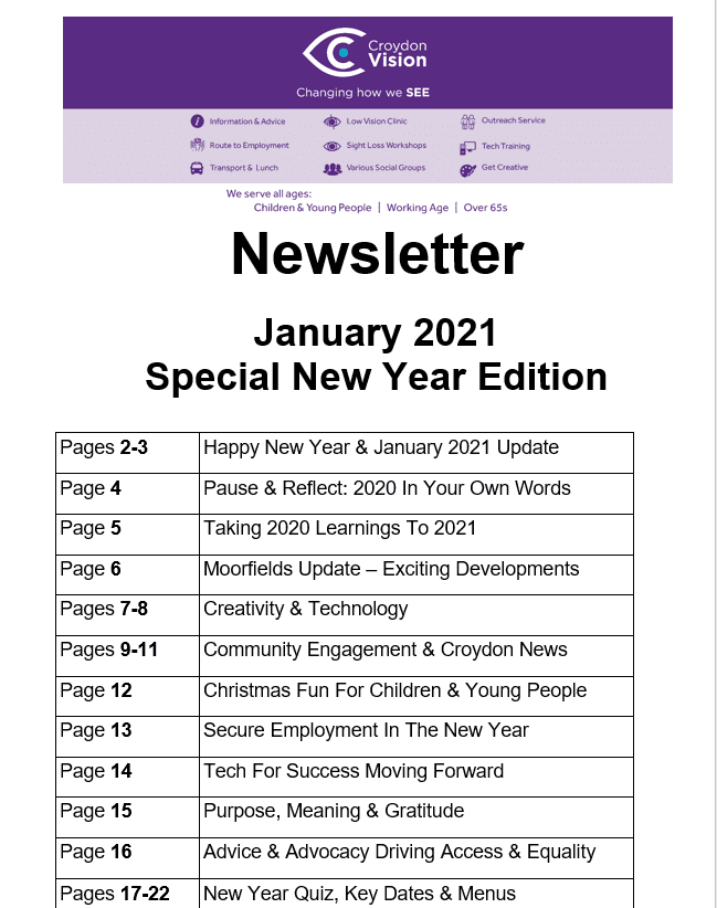 January Newsletter 2021