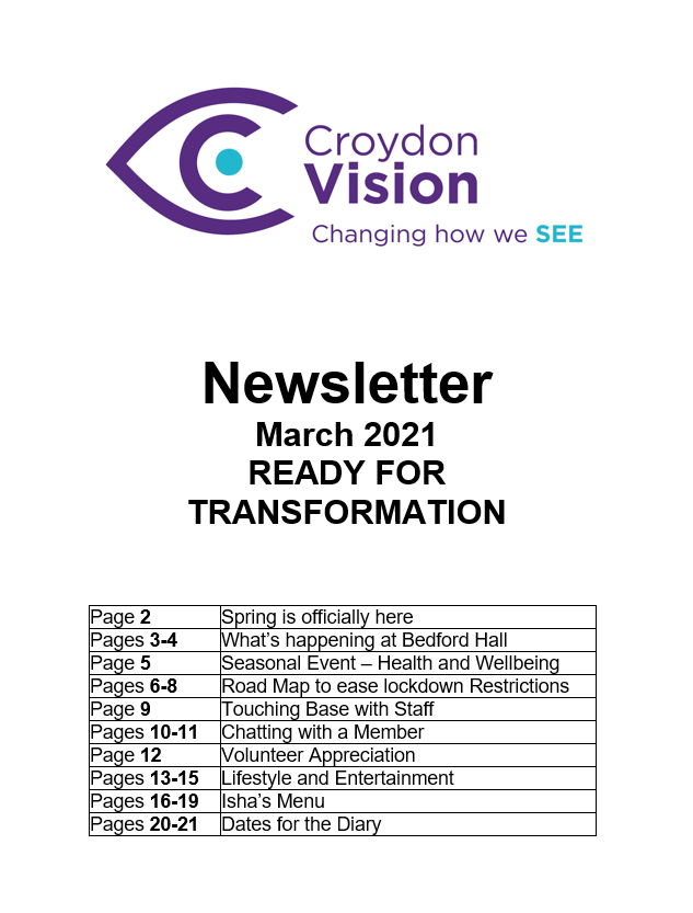 March Newsletter 2021