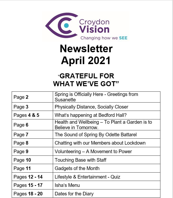 April Newsletter 2021